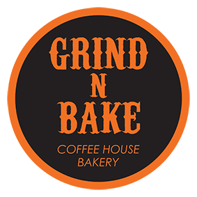 Grind n' Bake  Coffee House . Bakery Logo